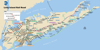 Long Island Rail Road (LIRR) netzplan