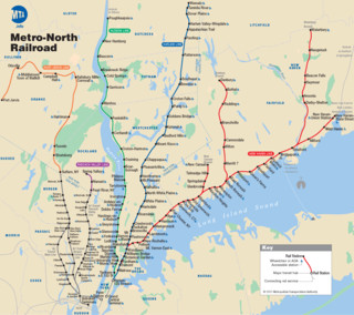 Metro North Railroad (MNR) netzplan