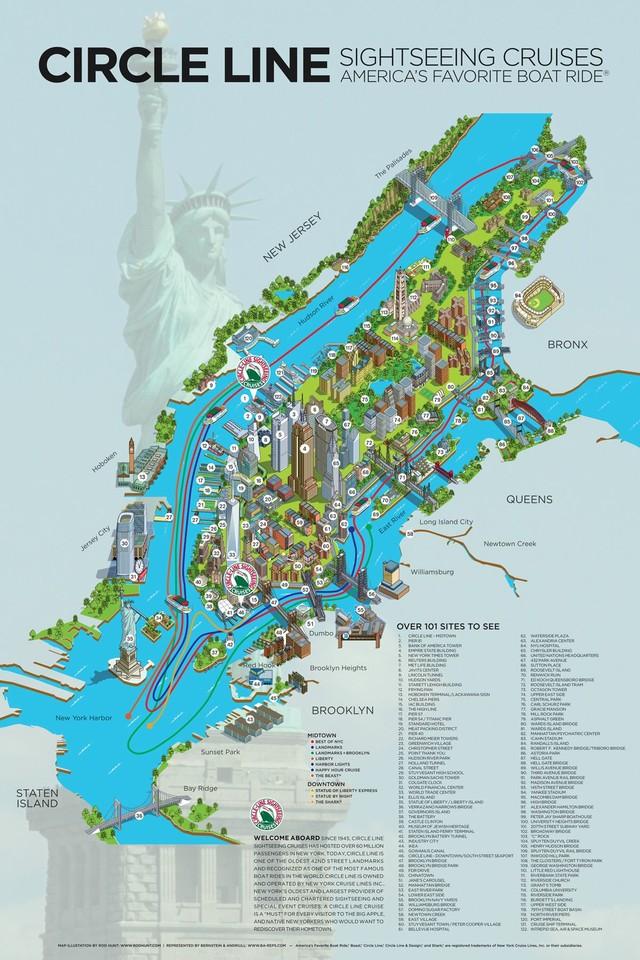 Karte Manhattan Pdf.Touristischen Karte Von New York Sehenswurdigkeiten Und Touren